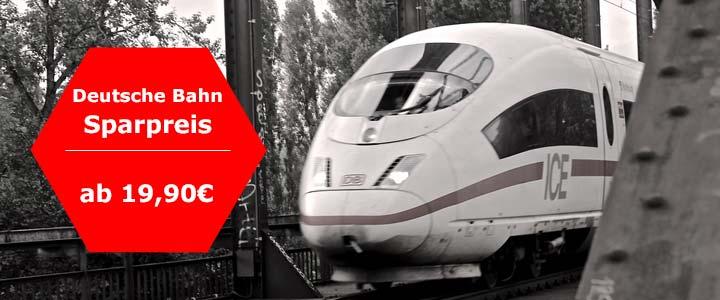 Deutsche Bahn Sparpreis Aktion: Tickets ab 19,90€