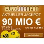 3 x Felder EuroJackpot online fast kostenlos spielen dank 5€ Gutschein