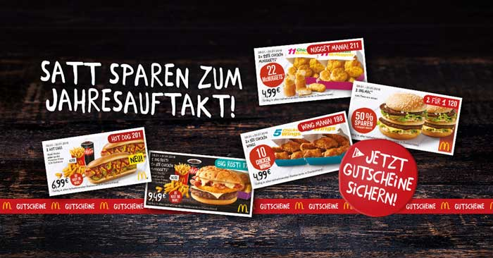 mcdonalds gutscheine november