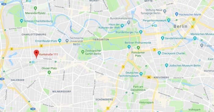 Lage Best Western Hotel Kantstrasse
