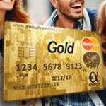 Gebührenfrei Mastercard Gold Kreditkarte + 40€ Amazon Gutschein