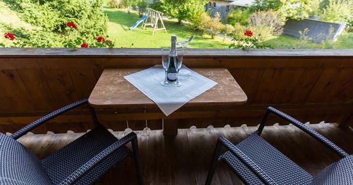 Landhotel Maiergschwendt Balkon