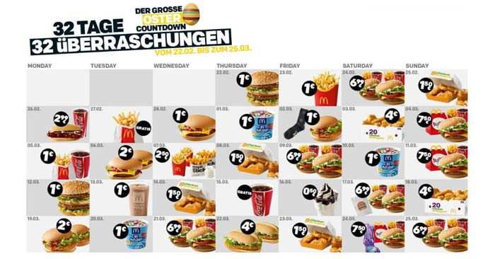 Oster Countdown 2021 Mcdonalds