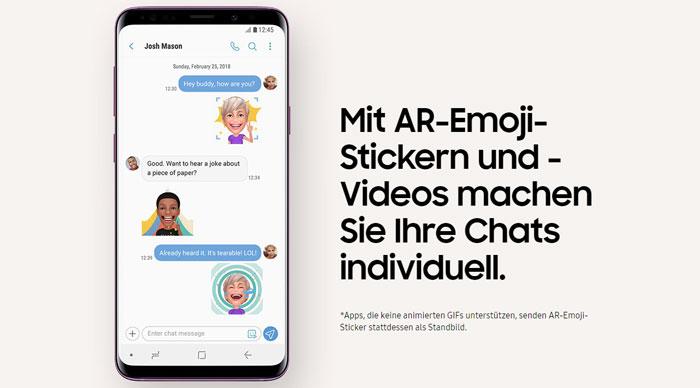 Samsung Galaxy S9 AR-Emojis