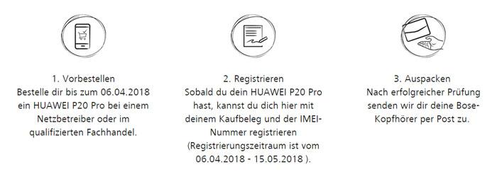Ablauf der Huawei Pro 20 Vorbesteller Aktion