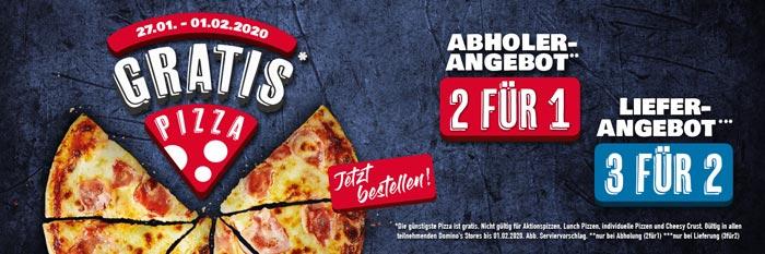 Zweite Pizza gratis bei Domino's