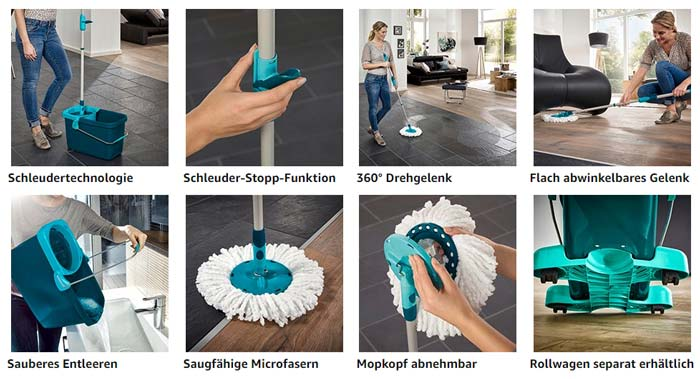 Leifheit Clean Twist Disc Mop Set Funktionen