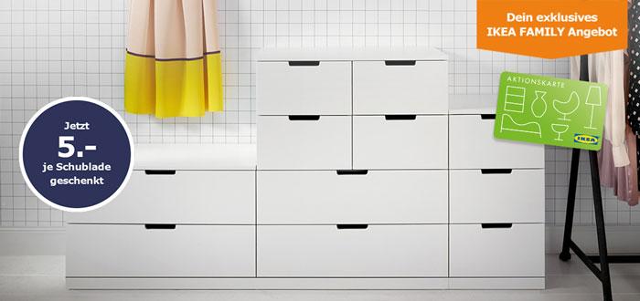 IKEA Gutschein pro Schublade beim Kauf einer Kommode