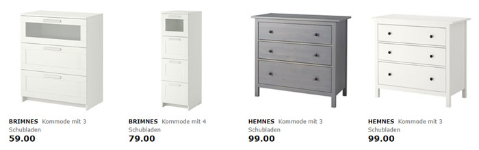 5 ikea gutschein pro schublade beim kauf einer kommode. Black Bedroom Furniture Sets. Home Design Ideas