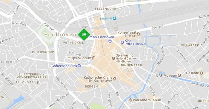 Inntel Hotels Art Eindhoven Lage