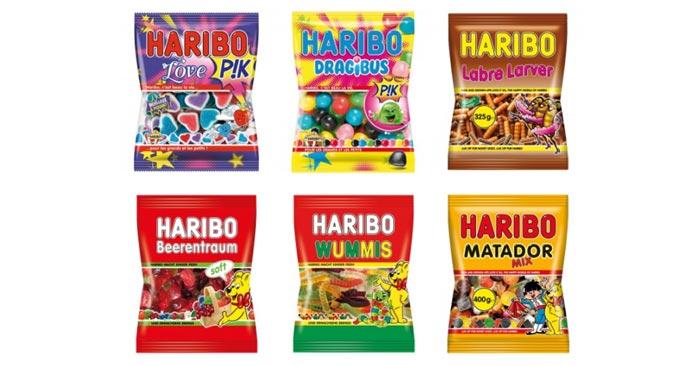 Internationale Haribo Süßigkeiten