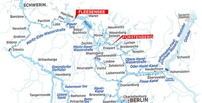 Hausboot Urlaub Berlin Karte