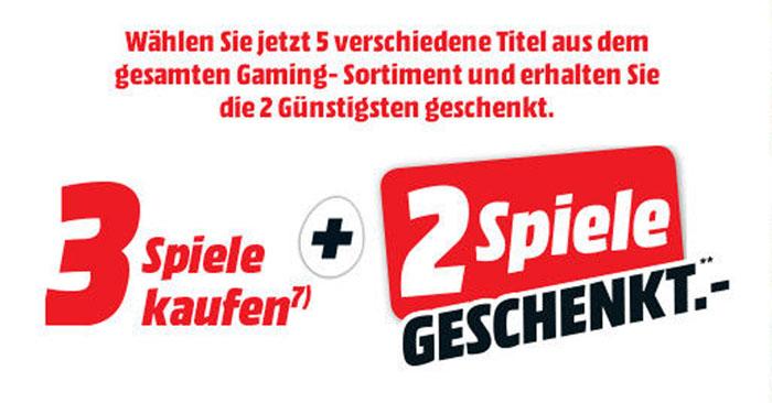 Media Markt 5 für 3 Spiele Aktion