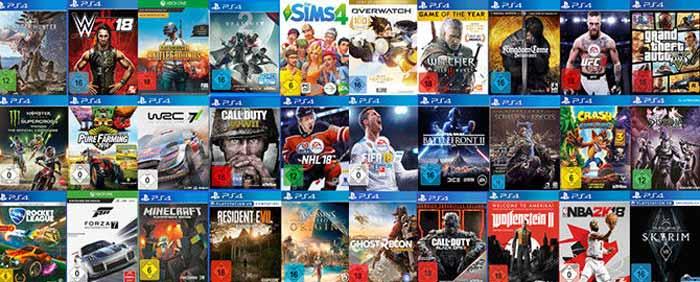 Games für Playstation, XBOX, Nintendo & PC