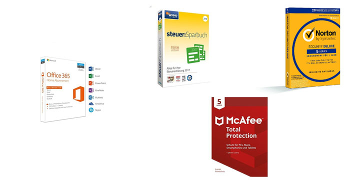 microsoft office 365 home bundles wiso mcafee norton f r 59 99. Black Bedroom Furniture Sets. Home Design Ideas
