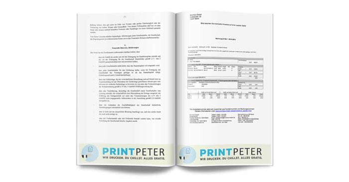 Skripte kostenlos drucken bei PrintPeter