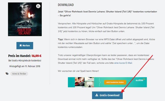 Hörbuch Shutter Island Download