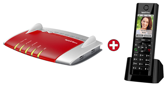 AVM FRITZ!Box 7490 WLAN-Router + Fritz!Fon C5