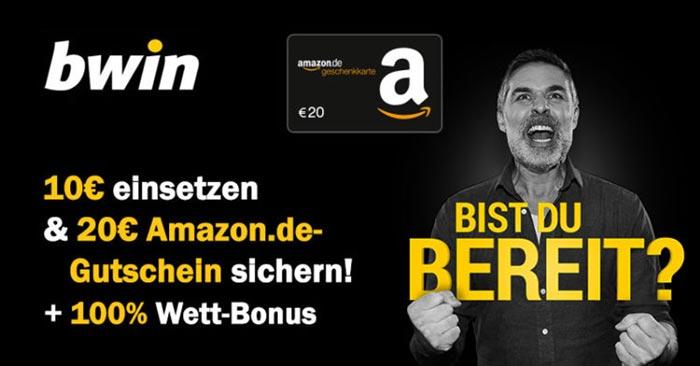 bwin Einzahlungsbonus + Amazon Gutschein