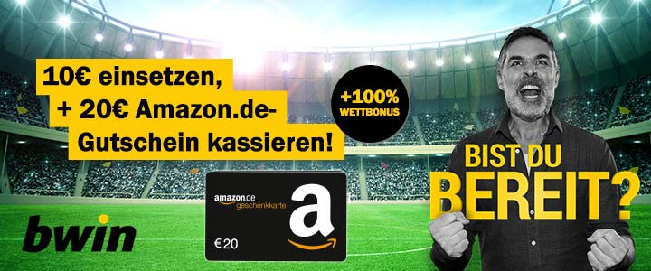 bwin Bonus-Deal: 10€ Amazon Gutschein