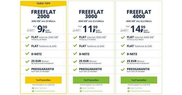 Freenetmobile FreeFlat 2000