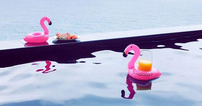 Getränkehalter Flamingo