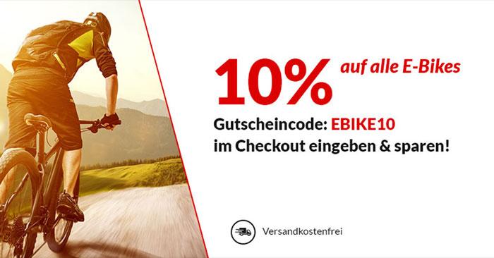 10% Alternate Gutschein auf E-Bikes & Pedelecs