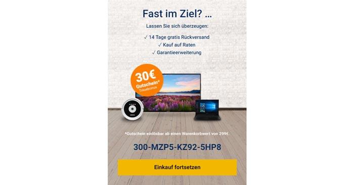30€ Medion Gutschein
