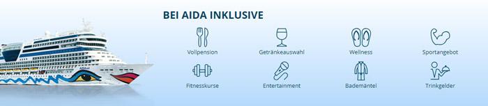 AIDA Inklusivleistungen