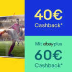 Bis zu 60€ eBay Cashback auf alles in der Kategorie TV, Video & Audio (ab 300€ MBW)