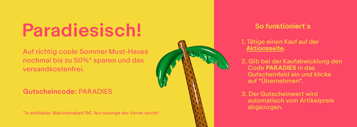 ebay Sommer Must-Haves Gutschein