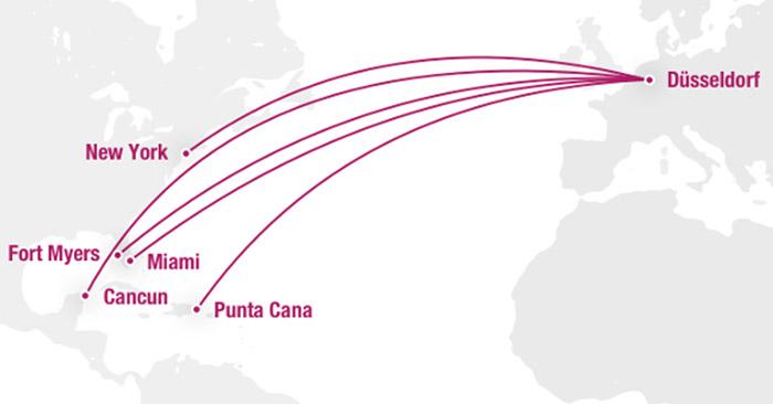 Eurowings Bizclass Strecken