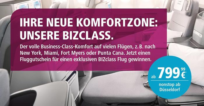 Eurowings Business Class Angebot