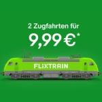 FlixTrain Gutschein für 2 Zugfahrten (deutschlandweit) für 9,99€ über eBay