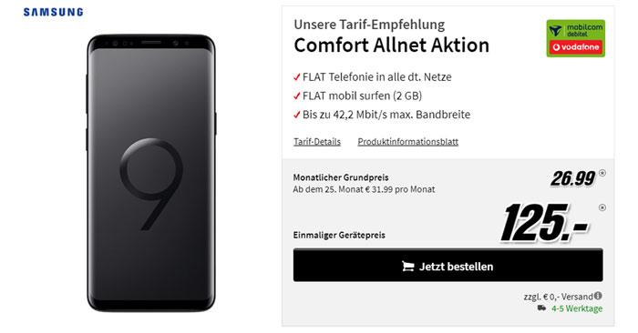 Vodafone Comfort Allnet + Galaxy S9
