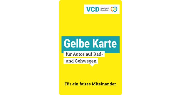 Gelbe Karte für Falschparker