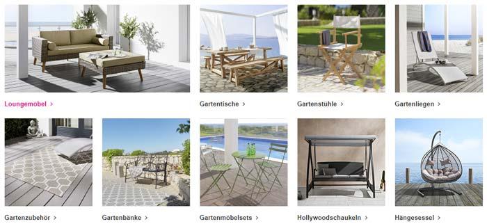 Mömax Gartenmöbel Kategorien