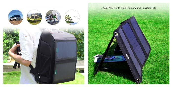 Einsatzzwecke Aukey Solar Ladegeräte