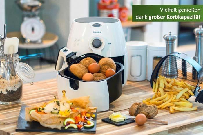 Philips Airfryer HD9220/50 Heißluftfritteuse zum Frittieren, Braten, Backen und Grillen