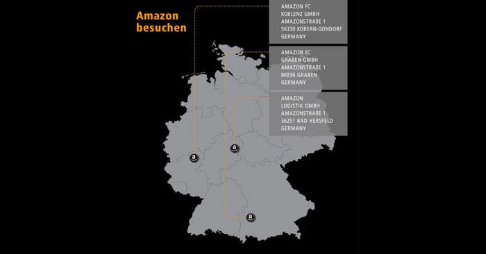 Übersicht Amazon Lager
