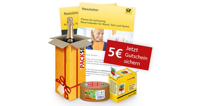 5€ Deutsche Post Shop Gutschein