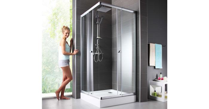 eckdusche trento variable duschkabine aus glas 80 90 cm f r 80 94. Black Bedroom Furniture Sets. Home Design Ideas
