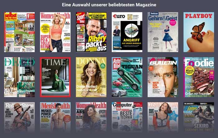Verfügbare Zeitschriften bei Readly