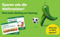 Subway WM Spielplan Gutscheine