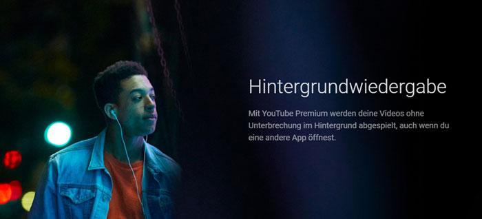 Hintergrundwiedergabe mit YouTube Music Premium