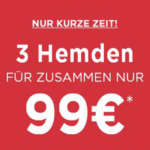 3 Eterna Hemden (Slim Fit oder Super Slim Fit) für 99€