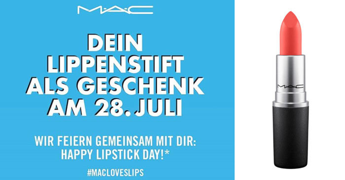 Gratis MAC Lippenstift