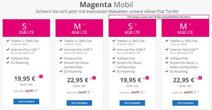 Telekom Magenta Mobil Sim-Only Tarife