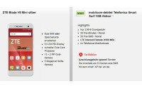 o2 Smart Surf Tarif (1 GB Internet + 50 Freiminuten) +ZTE Blade V8 Mini