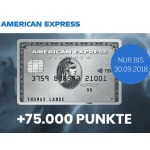 American Express Platinum Card + 75.000 Membership Rewards